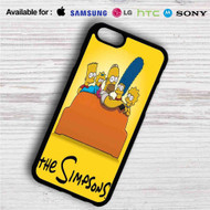 The Simpsons Watching TV iPhone 4/4S 5 S/C/SE 6/6S Plus 7| Samsung Galaxy S4 S5 S6 S7 NOTE 3 4 5| LG G2 G3 G4| MOTOROLA MOTO X X2 NEXUS 6| SONY Z3 Z4 MINI| HTC ONE X M7 M8 M9 M8 MINI CASE