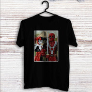 American Gothic Harley Quinn and Deadpool Custom T Shirt Tank Top Men and Woman