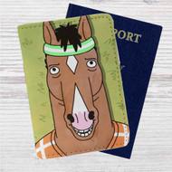 Bojack Horseman Face Custom Leather Passport Wallet Case Cover