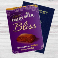 Cadbury Daily Milk Custom Leather Passport Wallet Case Cover