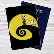 Charlie and Snoopy Skellington Custom Leather Passport Wallet Case Cover