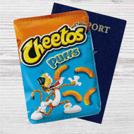 Cheetos Puff Custom Leather Passport Wallet Case Cover