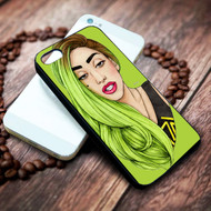 lady gaga neon green hair on your case iphone 4 4s 5 5s 5c 6 6plus 7 Samsung Galaxy s3 s4 s5 s6 s7 HTC Case on your case iphone 4 4s 5 5s 5c 6 6plus 7 case / cases