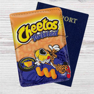 Cheetos Twisted Custom Leather Passport Wallet Case Cover