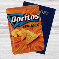 Doritos Tex Mex Custom Leather Passport Wallet Case Cover
