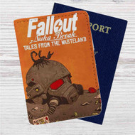 Fallout New Vegas Game Custom Leather Passport Wallet Case Cover