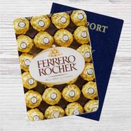 Ferrero Rocher Chocolate Custom Leather Passport Wallet Case Cover