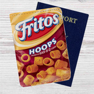 Fritos Hoops Custom Leather Passport Wallet Case Cover
