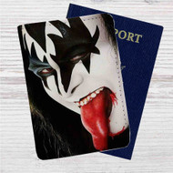 Gene Simmons Kiss Custom Leather Passport Wallet Case Cover