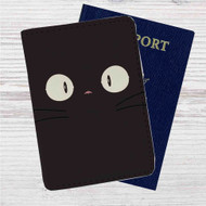 Jiji Face Kiki's Delivery Service Custom Leather Passport Wallet Case Cover