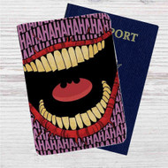 Joker Hahaha Custom Leather Passport Wallet Case Cover