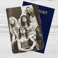 Metallica Custom Leather Passport Wallet Case Cover