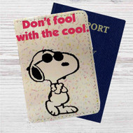 Peanuts Don't Fool With The Cool Custom Leather Passport Wallet Case Cover