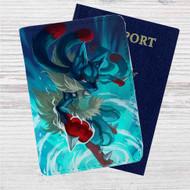 Pokemon Mega Lucario Custom Leather Passport Wallet Case Cover
