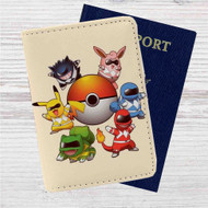 Pokemon Rangers Characters Custom Leather Passport Wallet Case Cover