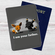 Pokemon Star Wars Custom Leather Passport Wallet Case Cover