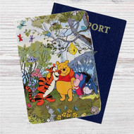 Pooh and Friends Disney Custom Leather Passport Wallet Case Cover