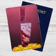 Sans Undertale Knife Custom Leather Passport Wallet Case Cover