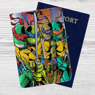 Teenage Mutant Ninja Turtles Movie Custom Leather Passport Wallet Case Cover