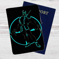 Tron Deadpool Custom Leather Passport Wallet Case Cover