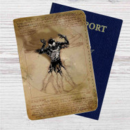 Vitruvian Spiderman Custom Leather Passport Wallet Case Cover