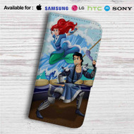 Ariel and Eric as Avatar The Last Airbender Custom Leather Wallet iPhone 4/4S 5S/C 6/6S Plus 7| Samsung Galaxy S4 S5 S6 S7 Note 3 4 5| LG G2 G3 G4| Motorola Moto X X2 Nexus 6| Sony Z3 Z4 Mini| HTC ONE X M7 M8 M9 Case