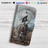Assassin's Creed IV Black Flag Custom Leather Wallet iPhone 4/4S 5S/C 6/6S Plus 7| Samsung Galaxy S4 S5 S6 S7 Note 3 4 5| LG G2 G3 G4| Motorola Moto X X2 Nexus 6| Sony Z3 Z4 Mini| HTC ONE X M7 M8 M9 Case