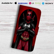 Batpool Batman Deadpool Custom Leather Wallet iPhone 4/4S 5S/C 6/6S Plus 7| Samsung Galaxy S4 S5 S6 S7 Note 3 4 5| LG G2 G3 G4| Motorola Moto X X2 Nexus 6| Sony Z3 Z4 Mini| HTC ONE X M7 M8 M9 Case