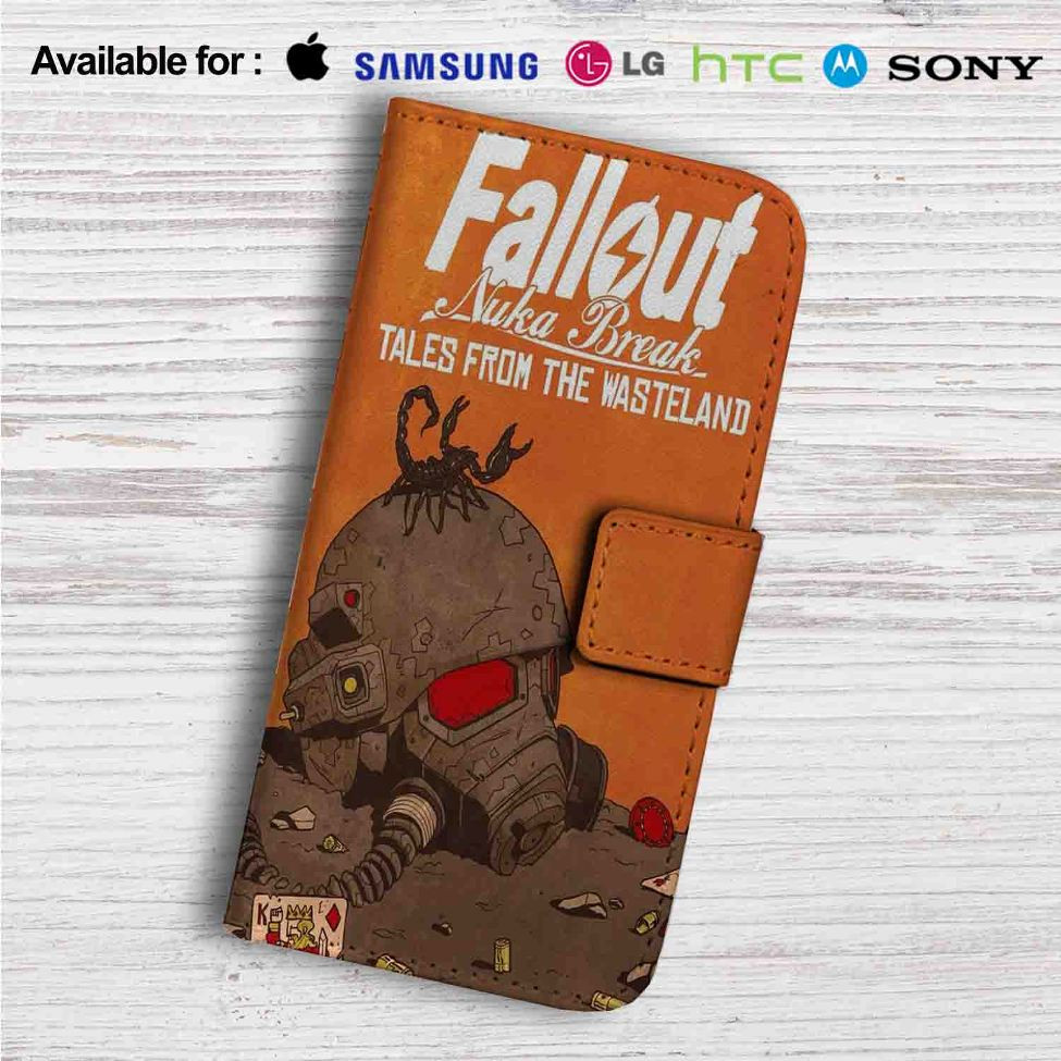 Fallout New Vegas Game Custom Leather Wallet iPhone 4/4S 5S/C 6/6S Plus 7|  Samsung Galaxy S4 S5 S6 S7 Note 3 4 5| LG G2 G3 G4| Motorola Moto X X2