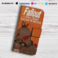 Fallout New Vegas Game Custom Leather Wallet iPhone 4/4S 5S/C 6/6S Plus 7| Samsung Galaxy S4 S5 S6 S7 Note 3 4 5| LG G2 G3 G4| Motorola Moto X X2 Nexus 6| Sony Z3 Z4 Mini| HTC ONE X M7 M8 M9 Case