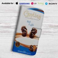 Guylian Chocolate Custom Leather Wallet iPhone 4/4S 5S/C 6/6S Plus 7| Samsung Galaxy S4 S5 S6 S7 Note 3 4 5| LG G2 G3 G4| Motorola Moto X X2 Nexus 6| Sony Z3 Z4 Mini| HTC ONE X M7 M8 M9 Case