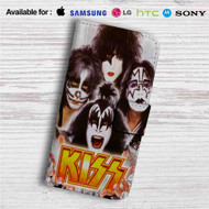 Kiss Band Custom Leather Wallet iPhone 4/4S 5S/C 6/6S Plus 7| Samsung Galaxy S4 S5 S6 S7 Note 3 4 5| LG G2 G3 G4| Motorola Moto X X2 Nexus 6| Sony Z3 Z4 Mini| HTC ONE X M7 M8 M9 Case