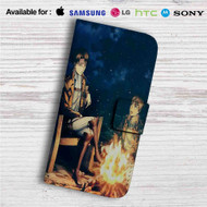 Levi Ackerman and Eren Jaeger Attack on Titan Custom Leather Wallet iPhone 4/4S 5S/C 6/6S Plus 7| Samsung Galaxy S4 S5 S6 S7 Note 3 4 5| LG G2 G3 G4| Motorola Moto X X2 Nexus 6| Sony Z3 Z4 Mini| HTC ONE X M7 M8 M9 Case
