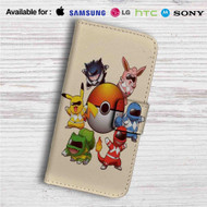 Pokemon Rangers Characters Custom Leather Wallet iPhone 4/4S 5S/C 6/6S Plus 7| Samsung Galaxy S4 S5 S6 S7 Note 3 4 5| LG G2 G3 G4| Motorola Moto X X2 Nexus 6| Sony Z3 Z4 Mini| HTC ONE X M7 M8 M9 Case