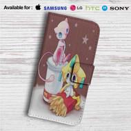 Pokemon Mew McDonald Custom Leather Wallet iPhone 4/4S 5S/C 6/6S Plus 7| Samsung Galaxy S4 S5 S6 S7 Note 3 4 5| LG G2 G3 G4| Motorola Moto X X2 Nexus 6| Sony Z3 Z4 Mini| HTC ONE X M7 M8 M9 Case
