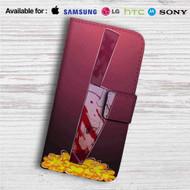 Sans Undertale Knife Custom Leather Wallet iPhone 4/4S 5S/C 6/6S Plus 7| Samsung Galaxy S4 S5 S6 S7 Note 3 4 5| LG G2 G3 G4| Motorola Moto X X2 Nexus 6| Sony Z3 Z4 Mini| HTC ONE X M7 M8 M9 Case