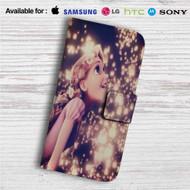 Tangled Rapunzel in The Light Custom Leather Wallet iPhone 4/4S 5S/C 6/6S Plus 7| Samsung Galaxy S4 S5 S6 S7 Note 3 4 5| LG G2 G3 G4| Motorola Moto X X2 Nexus 6| Sony Z3 Z4 Mini| HTC ONE X M7 M8 M9 Case