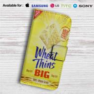 Wheat Thins Crackers Custom Leather Wallet iPhone 4/4S 5S/C 6/6S Plus 7| Samsung Galaxy S4 S5 S6 S7 Note 3 4 5| LG G2 G3 G4| Motorola Moto X X2 Nexus 6| Sony Z3 Z4 Mini| HTC ONE X M7 M8 M9 Case