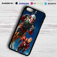 Boba Fett and Iron Man iPhone 4/4S 5 S/C/SE 6/6S Plus 7| Samsung Galaxy S4 S5 S6 S7 NOTE 3 4 5| LG G2 G3 G4| MOTOROLA MOTO X X2 NEXUS 6| SONY Z3 Z4 MINI| HTC ONE X M7 M8 M9 M8 MINI CASE
