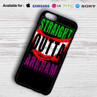 Straight Outta Arkham Batman Joker iPhone 4/4S 5 S/C/SE 6/6S Plus 7| Samsung Galaxy S4 S5 S6 S7 NOTE 3 4 5| LG G2 G3 G4| MOTOROLA MOTO X X2 NEXUS 6| SONY Z3 Z4 MINI| HTC ONE X M7 M8 M9 M8 MINI CASE