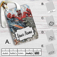 Attack on Godzilla Custom Leather Luggage Tag
