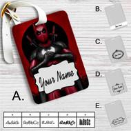 Batpool Batman Deadpool Custom Leather Luggage Tag