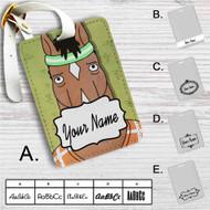 Bojack Horseman Face Custom Leather Luggage Tag