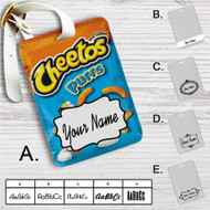 Cheetos Puff Custom Leather Luggage Tag