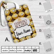 Ferrero Rocher Chocolate Custom Leather Luggage Tag