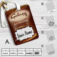 Galaxy Chocolate Custom Leather Luggage Tag