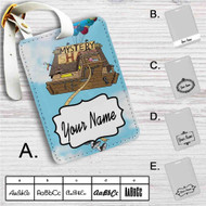 Gravity Falls Up Custom Leather Luggage Tag