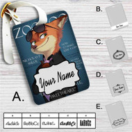 Judy and Nick Cover Models Zootopia Custom Leather Luggage Tag