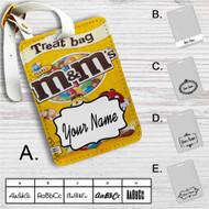 M&M'S Peanut Chocolate Custom Leather Luggage Tag