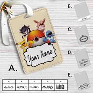 Pokemon Rangers 1 Custom Leather Luggage Tag